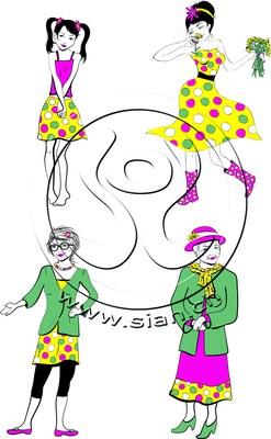*lady b verschiedene altersstufen* bilder für ladyplanet.ch / illustrator
