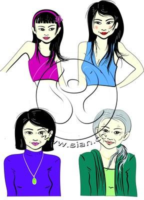 *asia lady* bilder für ladyplanet.ch / illustrator