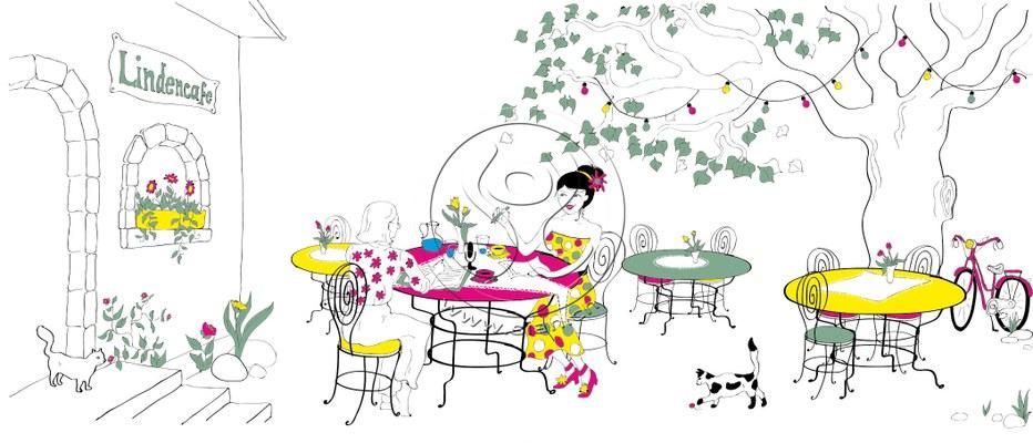 *garten kafi* bild für ladyplanet / illustrater