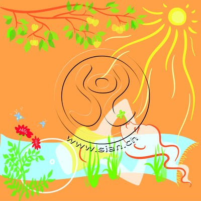 *sommerbild* bild für frautark.ch / illustrator