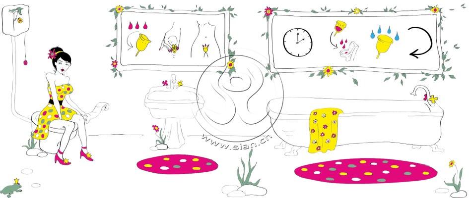 *ladycup* bild für ladyplanet.ch / illustrater