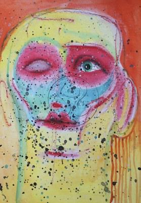 *portrait* aquarell auf papier, ca 18/25 cm