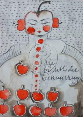*bekunstung* kohle & aquarell auf papier, ca 30/50 cm