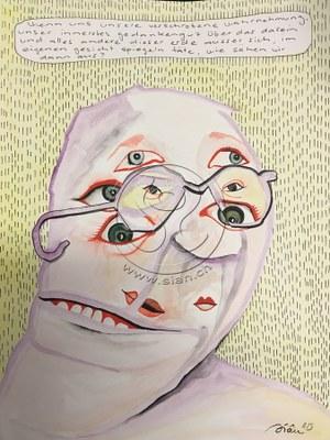*vielschichtig* aquarell auf papier, ca 35/50 cm