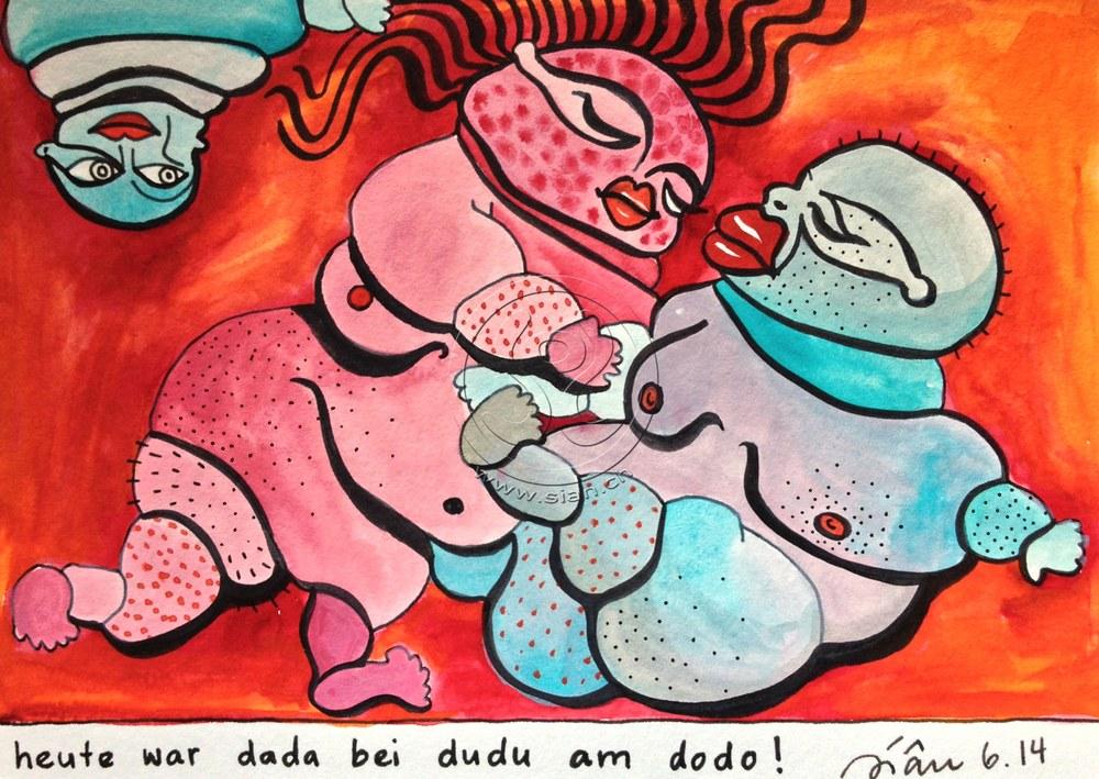 *dada bei dudu* aquarell auf papier, 16/22 cm (verkauft)